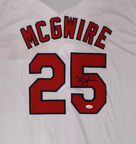 St. Louis Cardinals Mark McGwire Autographed Signed White Jersey JSA