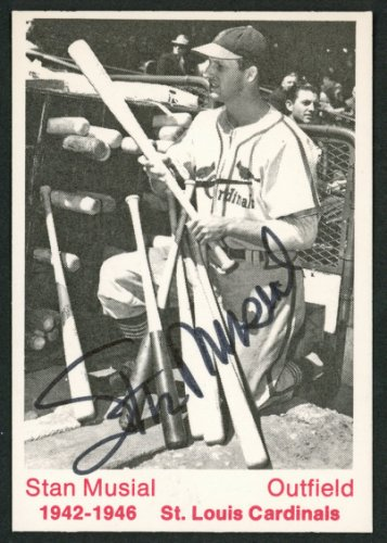 Stan Musial Autographed Signed 1975 Tcma Card St. Louis Cardinals - Certified Authentic