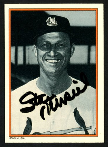 Stan Musial Autographed Signed 1985 Topps Circle K Card #15 St. Louis Cardinals - Certified Authentic