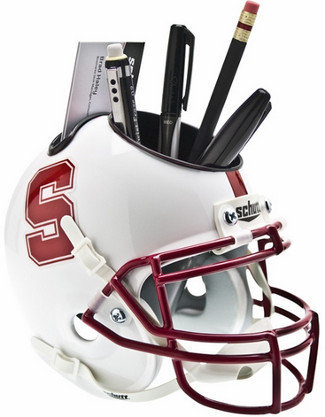 Stanford Cardinal White NCAA Football Schutt Mini Helmet Desk Caddy