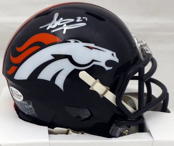 Steve Atwater Autographed Signed Denver Broncos Speed Mini Helmet Beckett BAS
