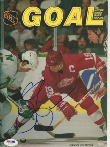 Steve Yzerman Autographed Signed Goal Magazine (Issue 2) With PSA/DNA COA (No Label)