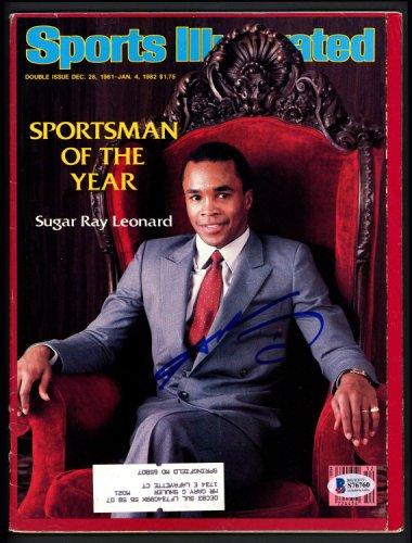 Sugar Ray Leonard Autographed Signed Sports Illustrated Magazine Beckett BAS #S76760