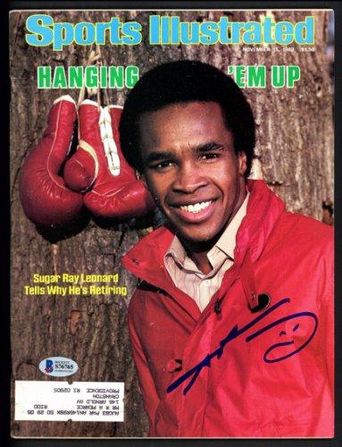 Sugar Ray Leonard Autographed Signed Sports Illustrated Magazine Beckett BAS #S76765