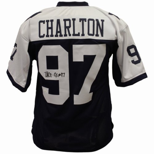8cf222e5254 Taco Charlton Dallas Cowboys Autographed Signed Custom Dallas Star Jersey -  JSA Authentic
