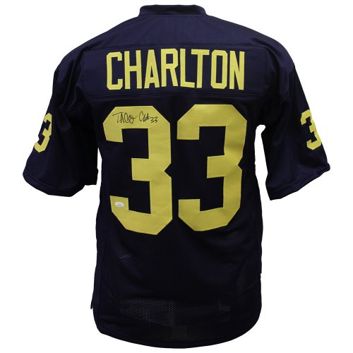 2fdfc6c6091 Taco Charlton University of Michigan Autographed Signed Custom Jersey - JSA  Authentic