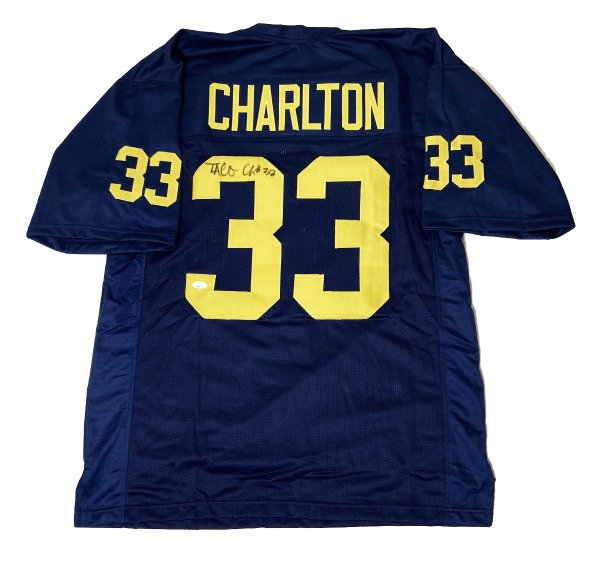 Taco Charlton University of Michigan Autographed Signed Custom Jersey - JSA Authentic