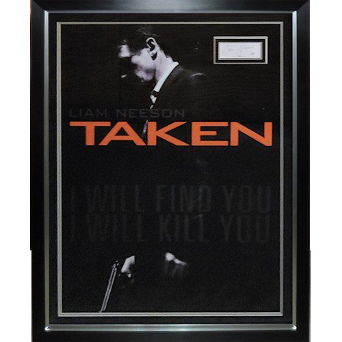 Taken Full-Size Movie Poster Deluxe Framed with Liam Neeson Autographed Signed Autograph - JSA
