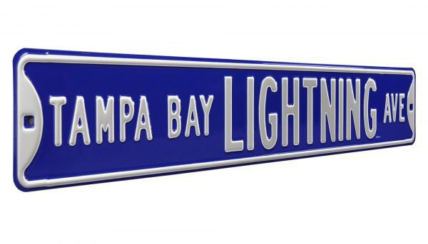 Tampa Bay Lightning AVE Authentic Metal Avenue Street Sign