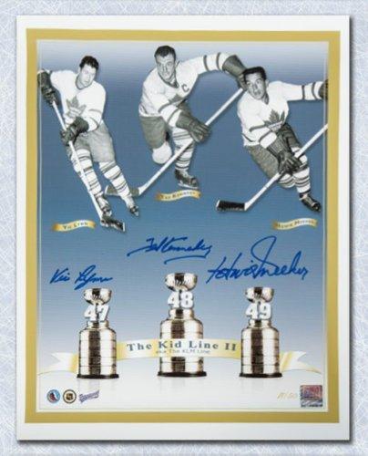 262960ff6 Teeder Kennedy Meeker & Lynn Triple Autographed Signed Maple Leafs Kid Line  11x14 Photo /50
