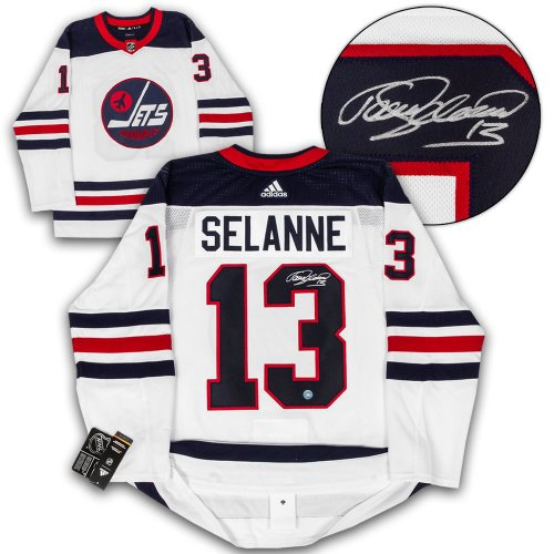 51a511d56ea Teemu Selanne Winnipeg Jets Autographed Signed Heritage Adidas Authentic Hockey  Jersey - Certified Authentic