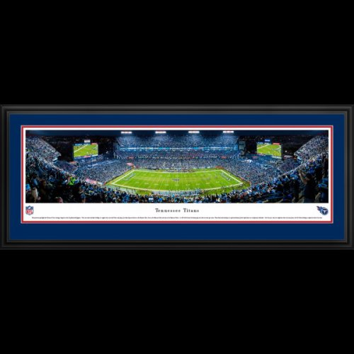 Tennessee Titans (Night Game) Deluxe Framed Panoramic - Nissan Stadium