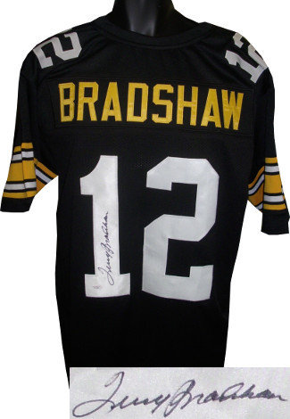 the latest 14c6f e7ef5 Terry Bradshaw Autographed Signed Black Custom Throwback ...