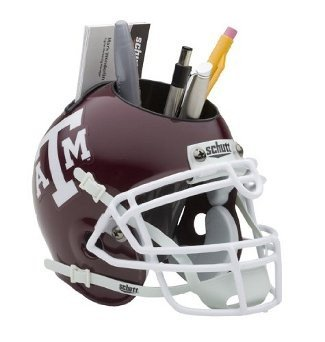 Texas A&M Aggies NCAA Football Schutt Mini Helmet Desk Caddy