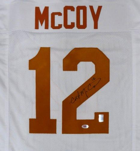 Texas Longhorns Colt McCoy Autographed Signed White Jersey PSA/DNA