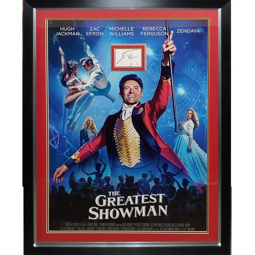 The Greatest Showman Full-Size Movie Poster Deluxe Framed with Hugh Jackman Autographed Signed Autograph - JSA