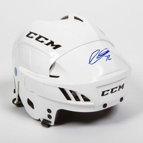 Thomas Chabot Autographed Signed Memorabilia White Ccm Hockey Helmet - Ottawa Senators