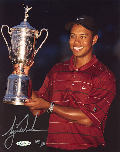 0eb0dce7 Tiger Woods Autographed Signed 8x10 Photo 2002 Us Open Championship Le Autographed  Signed #/100
