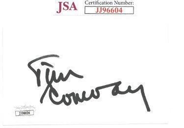 Tim Conway Autographed Signed 3x5 Index Card- JSA #JJ96604 (McHale's Navy/Carol Burnett Show/Dorf)