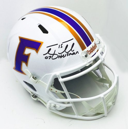 Tim Tebow Autographed Signed Florida Gators White Riddell Full Size Speed Replica Helmet Heisman 07 - PSA/DNA Authentic