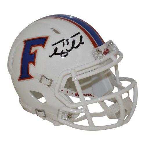 Tim Tebow Autographed Signed Florida Gators White Riddell Speed Mini Helmet - Tebow Hologram