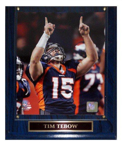 Tim Tebow Denver Broncos (AFC Wildcard) Licensed 8X10 Photo Plaque