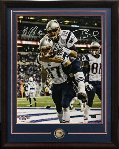 Tom Brady Autographed Signed & Rob Gronkowski 16X20 Photo Framed Patriots Auto Fanatics COA
