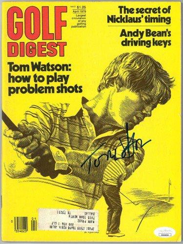 Tom Watson Autographed Signed Golf Digest Full Magazine April 1979- JSA #EE60303