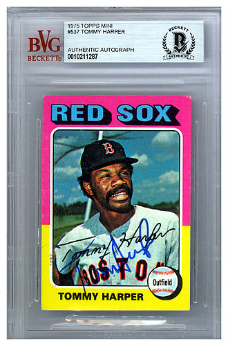 115ff509a30 Tommy Harper Autographed Signed 1975 Topps Mini Card  537 Boston Red Sox -  Beckett Authentic
