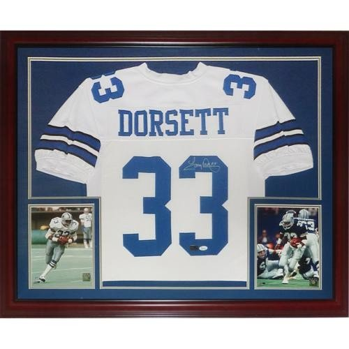a1c8b7007a3 Tony Dorsett Autographed Signed Auto Dallas Cowboys White #33 Deluxe Framed  Jersey � JSA - Certified Authentic