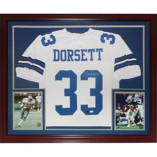 Tony Dorsett Autographed Signed Auto Dallas Cowboys White  33 Deluxe Framed  Jersey   JSA - f5ab83ba6