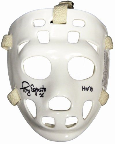 Tony Esposito Autographed Signed White Throwback Hockey Goalie Mask w/HOF 88