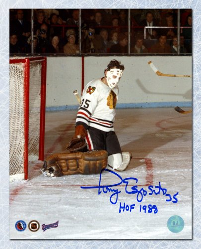 13cef7297ca Tony Esposito Chicago Blackhawks Autographed Signed Butterfly Save Goalie  8x10 Photo - Certified Authentic