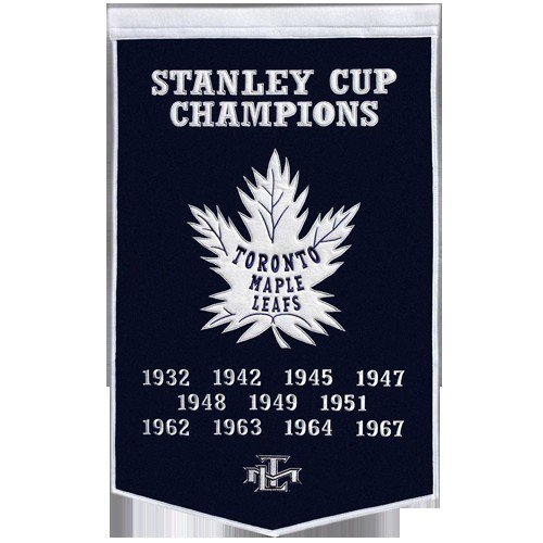 Toronto Maple Leafs Stanley Cup Championship Dynasty Banner - with hanging rod