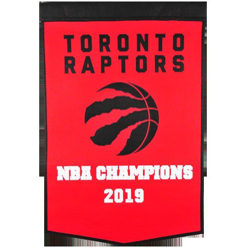 Toronto Raptors NBA Finals Championship Dynasty Banner - with hanging rod