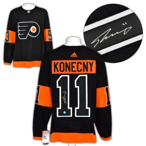 Travis Konecny Philadelphia Flyers Autographed Signed Adidas Alternate Hockey Jersey