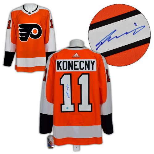 Travis Konecny Philadelphia Flyers Autographed Signed Adidas Authentic Hockey Jersey