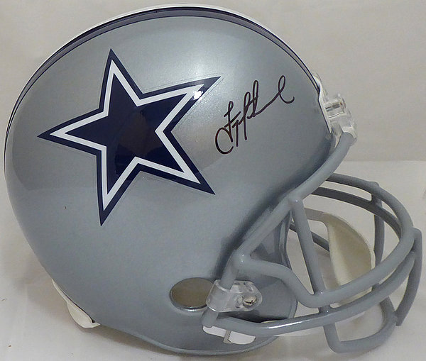 new style c9698 1b58c Troy Aikman Autographed Signed Dallas Cowboys Custom Navy ...