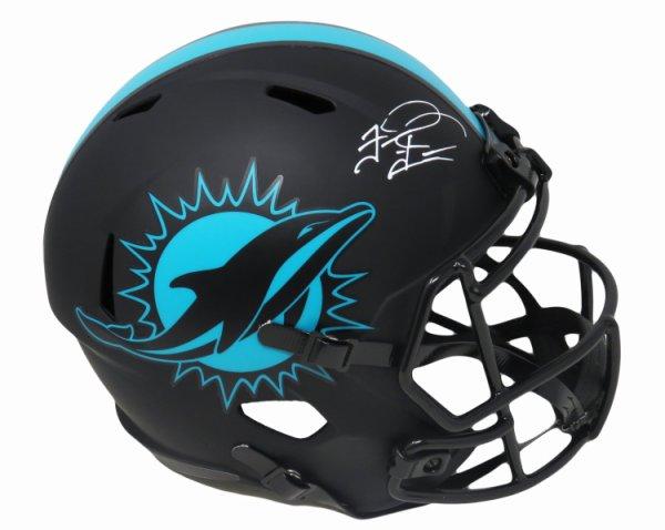 Tua Tagovailoa Autographed Signed Miami Dolphins Riddell Eclipse Black Matte Riddell Full Size Speed Replica Helmet (Fanatics)