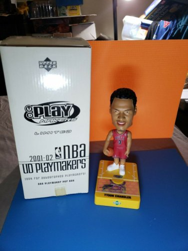 Tyson Chandler Autographed Signed Autographed Bobblehead 2001-02 Ud Playmakers UDA Bulls