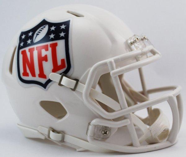 UNSIGNED NFL Shield Logo Mini Speed Football Helmet