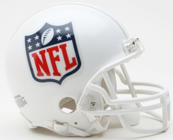 UNSIGNED NFL Shield Logo NFL Mini Football Helmet