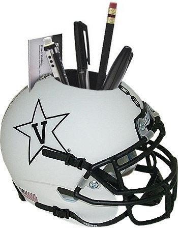 Vanderbilt Commodores White with Anchor NCAA Football Schutt Mini Helmet Desk Caddy