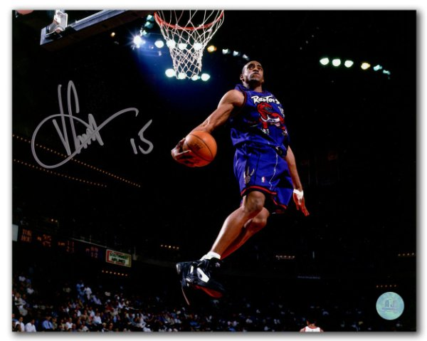 Vince Carter Toronto Raptors Autographed Signed Dino Jersey Windmill Dunk  16x20 Photo - Certified Authentic e01b54b16