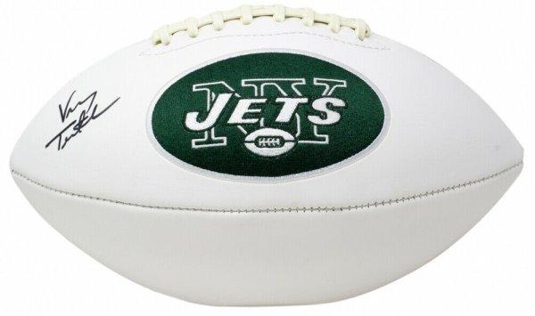 Vinny Testaverde Autographed Signed Jets Logo Football (JSA COA)