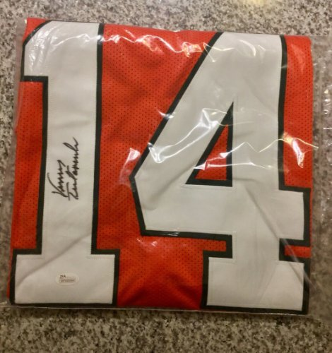 Vinny Testaverde Autographed Signed Miami Hurricanes Autograph Custom Jersey With Tristar COA