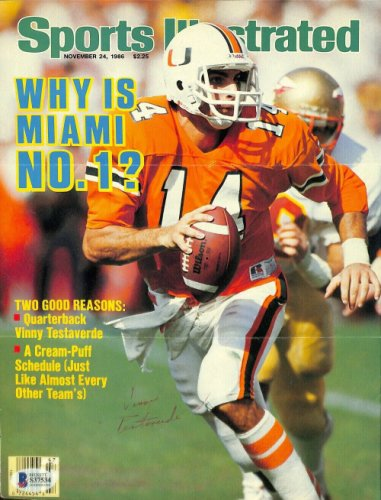 Vinny Testaverde Autographed Signed Miami Hurricanes Sports Illustrated Magazine Cover Beckett