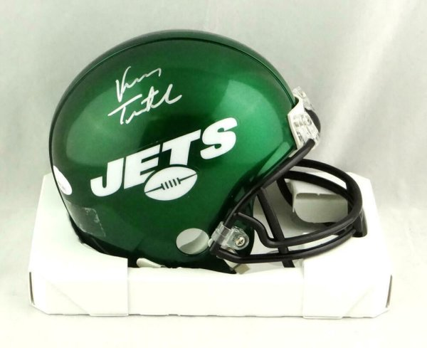 Vinny Testaverde Autographed Signed New York Jets 2019 Mini Helmet- JSA W Auth *Silver