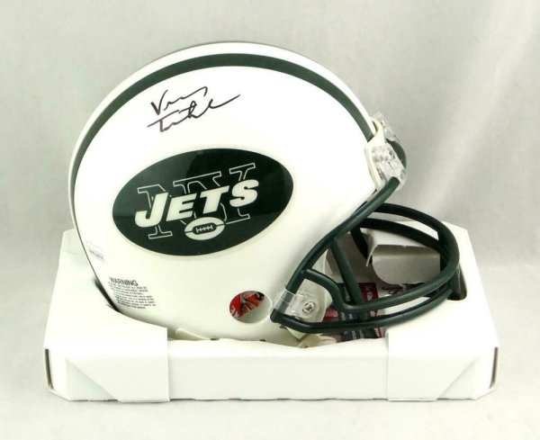 Vinny Testaverde Autographed Signed New York Jets Mini Helmet- JSA W Authenticated