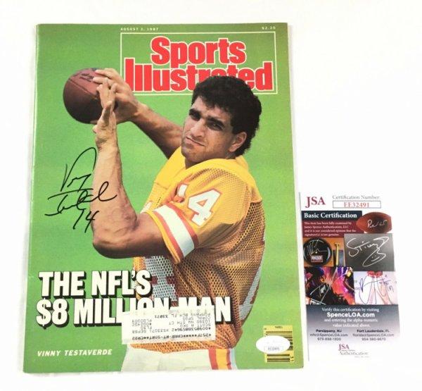 Vinny Testaverde Autographed Signed Sports Illustrated JSA COA Ny Jets Dallas Cowboys